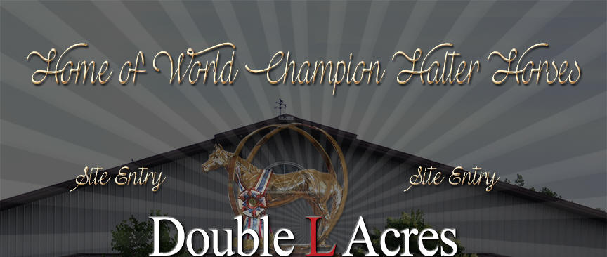 Double L Acres, home of World Champion Halter Horses.